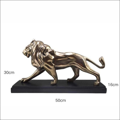 Cast Bronze Mighty Lion Sculpture
