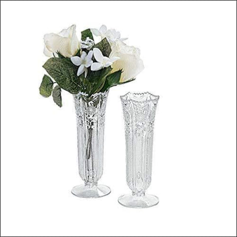 clear plastic flower vase set