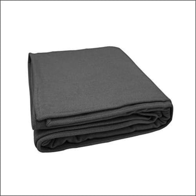 Charcoal Herringbone Merino Wool Cashmere Throw Blanket - 90 x 60 Inches