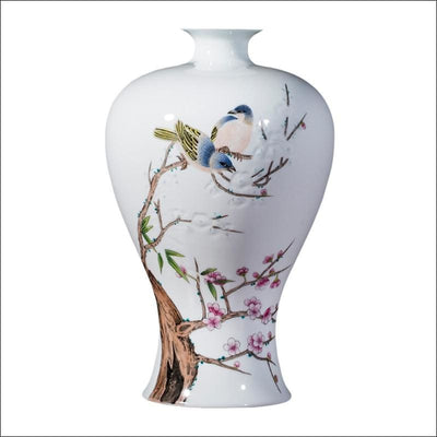 Chinese Pastel Blossom Tabletop Flower Vase