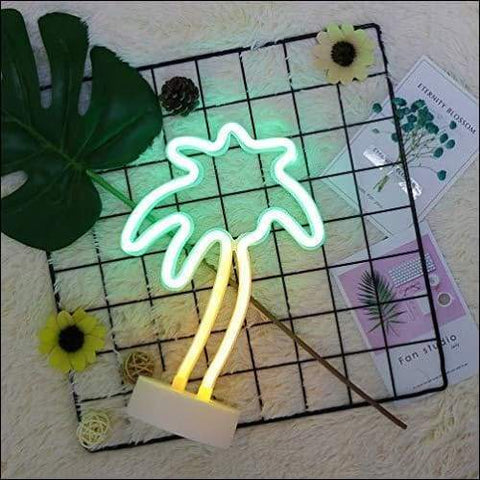 palm tree neon night light under $50