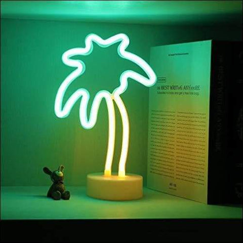 palm tree neon night light