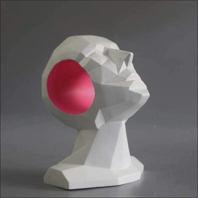 Creative Geometric Head Sculpture