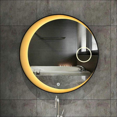 Crescent Moon Bluetooth Touch LED Wall Mirror - 80cm - Lighted Mounted