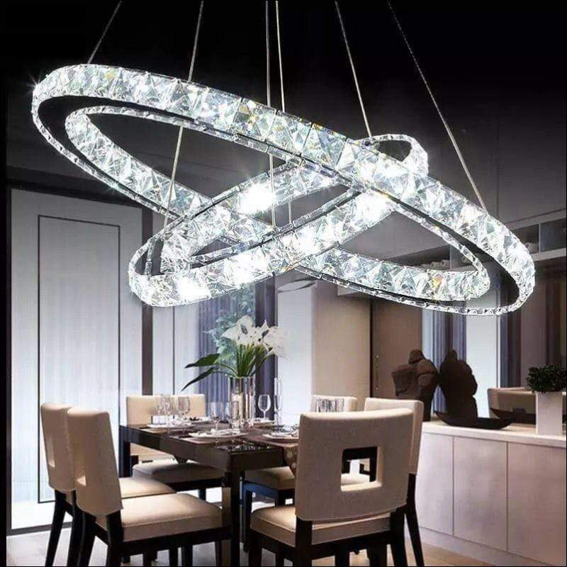 Crystal Double Ring Ceiling Lamp - Ceiling Lamps