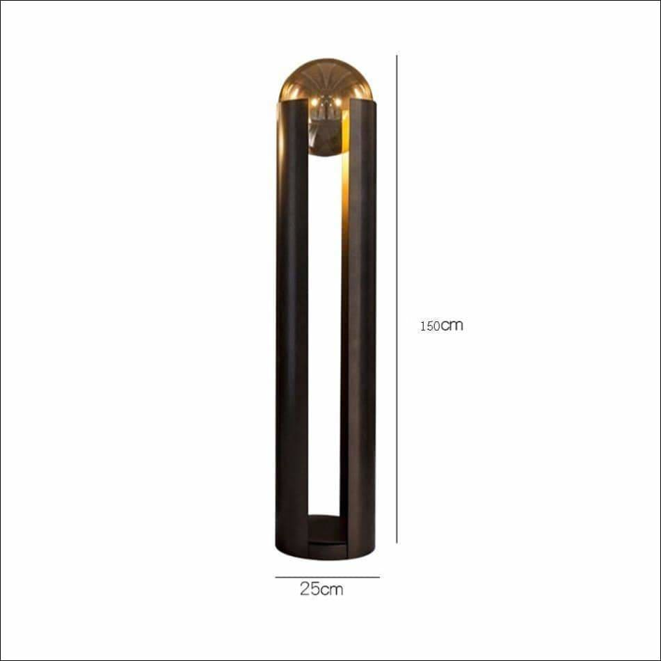 Crystal Pillar Orb Floor Lamp - Lamps & Lighting