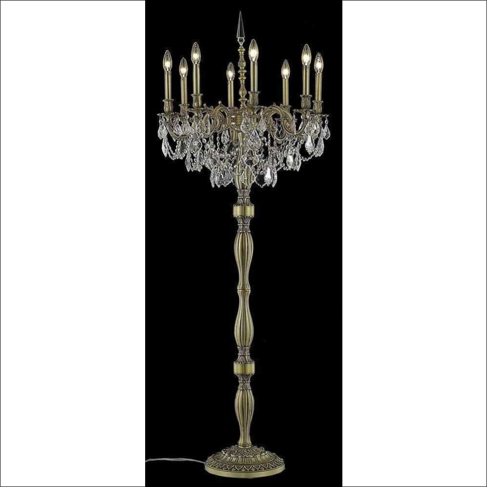 Crystal Spectra Gold Finish Floor Lamp - Lamps & Lighting
