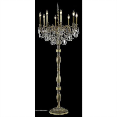 Crystal Spectra Gold Finish Floor Lamp