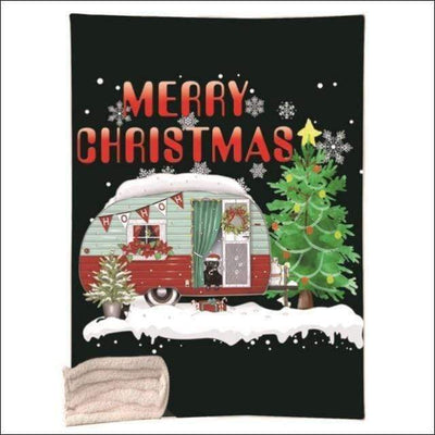 Crystal Velvet Sherpa Fleece Christmas Throw Blanket
