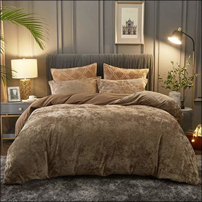 Dark Khaki Weighted 3PC Bedding Set