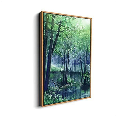 Dazzling Forest Rivers Framed Canvas Wall Art