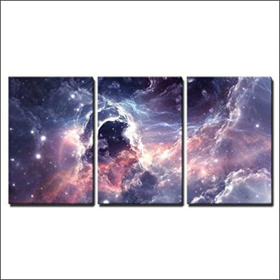 Deep Plasmatic Nebula 3PC Canvas Wall Art