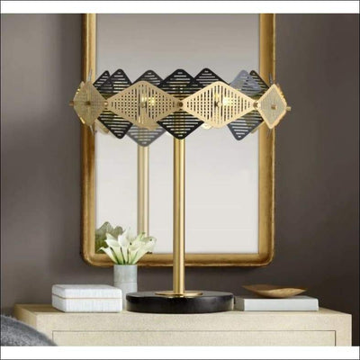 Designer Golden Marble Brass Table Lamp