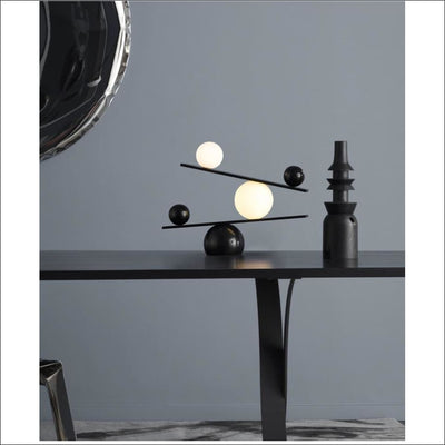 Designer Orb Frosted Glass Marble Table Lamp