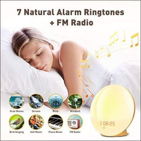 Dual Alarm Sunrise Night Light