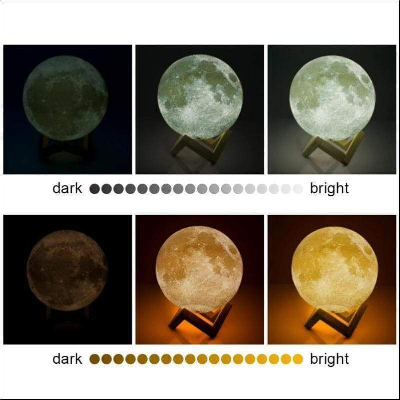 Earth's Moon 3D Moon Lamp - Lamps & Lighting