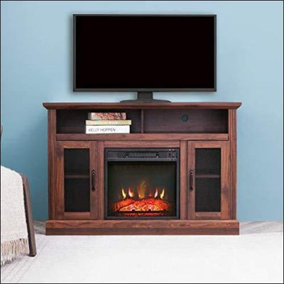 Electric Fireplace Wooden Entertainment Center