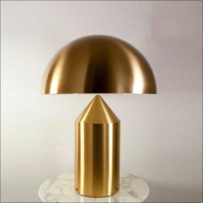Electroplated Mushroom Designer Table Lamp - Gold/Small