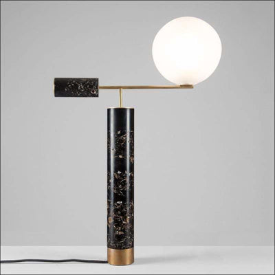 European Marble Glass Ball Table Lamp