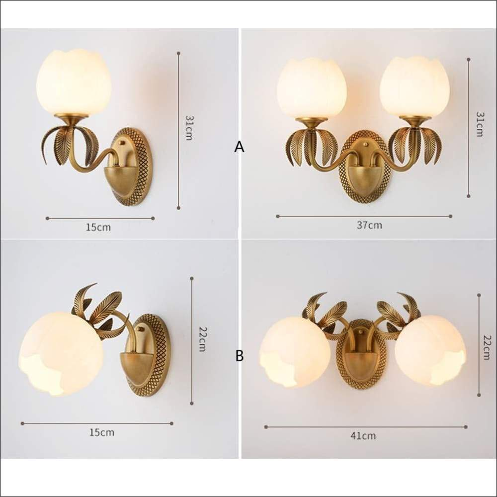 European Pure Copper Blossom Wall Lamp - Lamps & Lighting