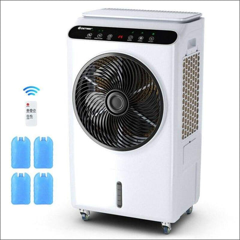 white portable home air conditioner