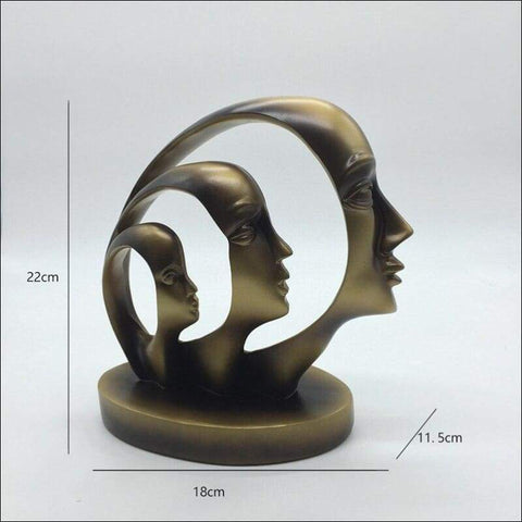 Family Evolution Abstract Sculpture