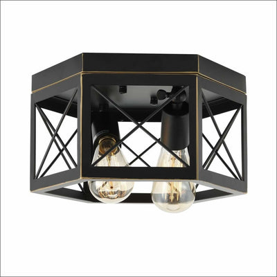 Farmhouse Hexagon Metal Pendant Ceiling Lamp