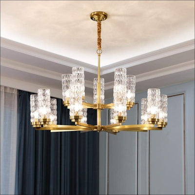 Forged Golden Glass Modern Ceiling Lamp