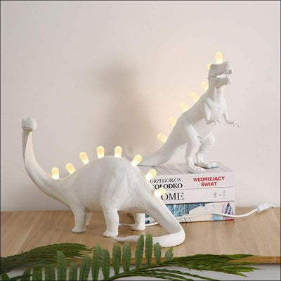 Frosted Glass Dinosaur Night Light Lamp