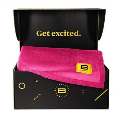 Fuchsia Polyester Spandex Throw Blanket - 10' x