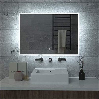 Galvanized Anti-fog Touch LED Wall Mirror - Lighted Mounted
