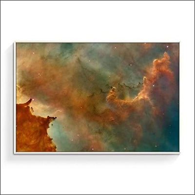 Glitter Galaxy VI Abstract Framed Canvas Wall Art