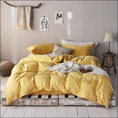 Gold Brushed Microfiber 3PC Bedding Set
