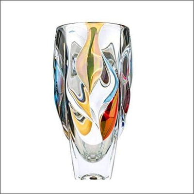 Gold Crystal Bamboo Tabletop Flower Vase