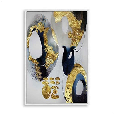 Gold Foil Marble Framed Canvas Painting