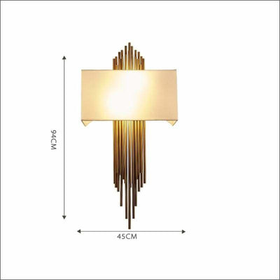 Gold Scone Pipe Modern Wall Lamp