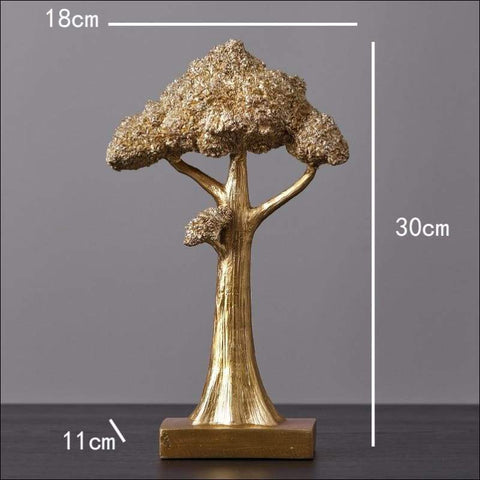Gold Tree of Life Sculpture