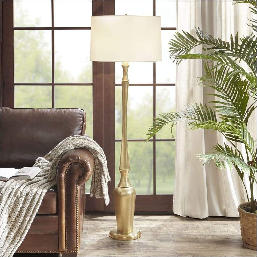 Golden Harbor Veronica Floor Lamp - Lamps & Lighting