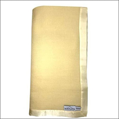 Golden Maize Cashmere Silk Satin Throw Blanket - 90 x Inches