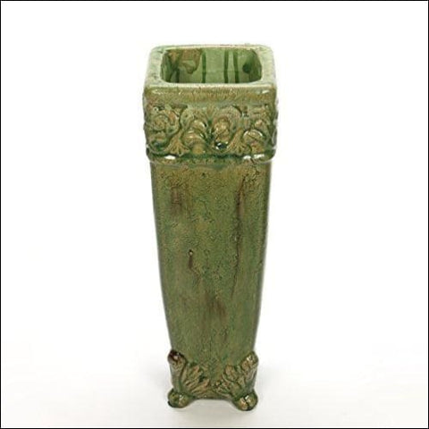 green floor flower vase