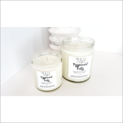 Hand-Poured Peppermint Patty Soy Candle - Home & Garden - Decor - Candles Holders