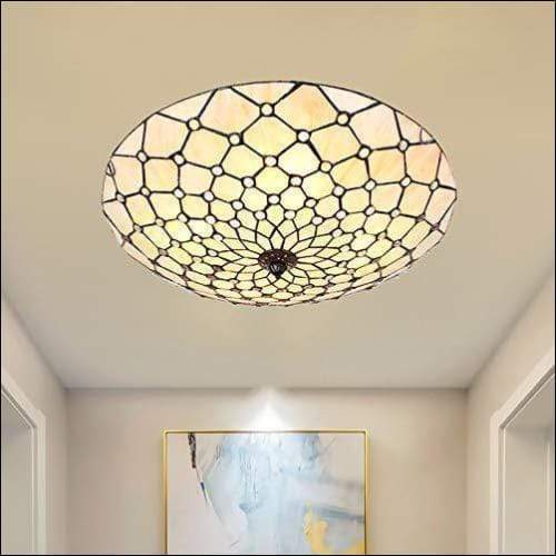Handmade Flush Stained Glass Ceiling Lamp - Ceiling Lamps