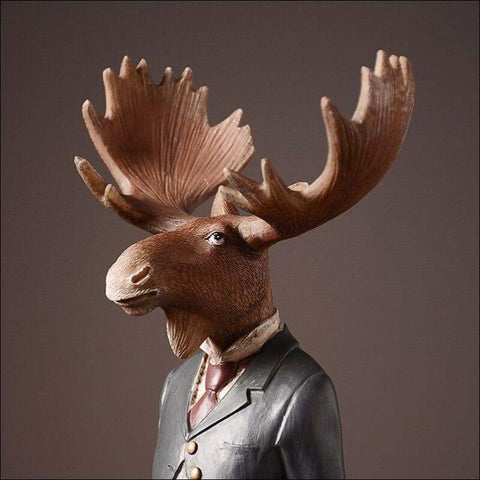 Handmade Gentlemen Sir Elk Sculpture