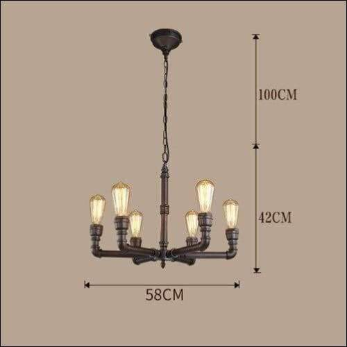 Handmade Wrought Iron Retro Ceiling Lamp - Ceiling Lamps