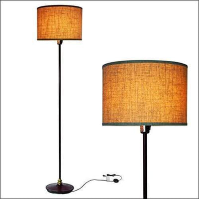 Hanging Drum Shade Floor Lamp