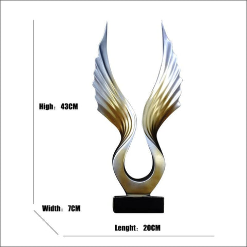Heavenly Angel Wings Sculpture