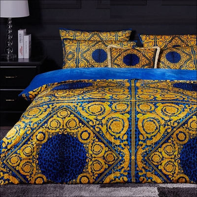High-end French Italian Velvet 4PC Bedding Set