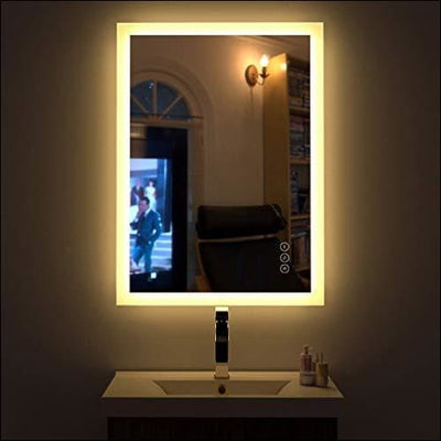 High Lumen Anti-fog Touch LED Wall Mirror - Lighted Mounted