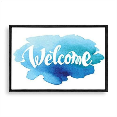 Welcome Home Abstract Framed Canvas Painting
