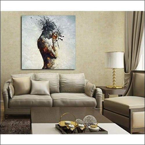 Home Deliberation Framed Canvas Painting - Canvas Paintings Under $500